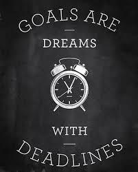 goal deadlines