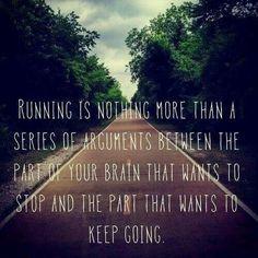 running brain quote