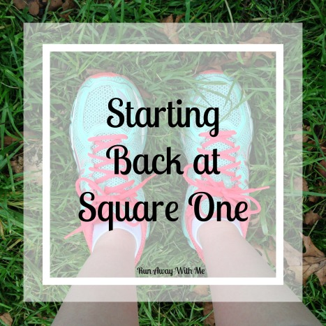 Starting back at square one with my running injury and my plan for recovery