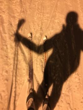 Ski selfie using my shadow!